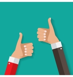 Flat Design Thumbs Up Background vector