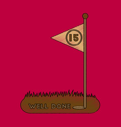 flat shading style icon golf course well done vector image