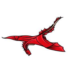 flying dragon zodiac symbol company logo vector image