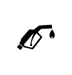 gasoline pump nozzle fuel pump flat icon vector image