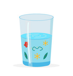 Glass with dirty polluted water vector