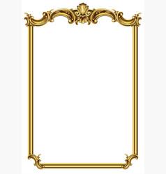 Gold classic frame rococo baroque vector