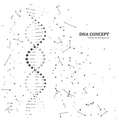 graphic model molecule dna molecular background vector image