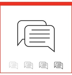icon of chat vector image