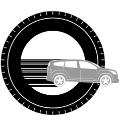 Icon with a car vector