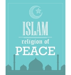 islam religion of peace poster template flat vector image