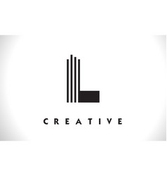 l logo letter with black lines design line letter vector image