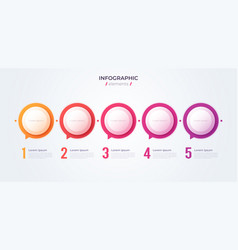 minimalistic infographic concept with 5 options vector image