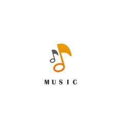 music education logo vector image