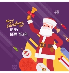 New Year and Christmas card template vector