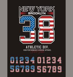 new york brooklyn 38 typography design vector image