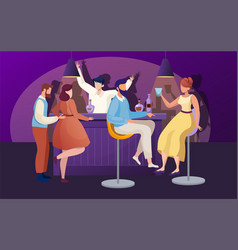 nightclub party flat vector image