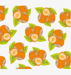 Nut hazelnut pattern vector