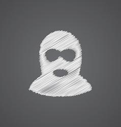 Offender sketch logo doodle icon vector