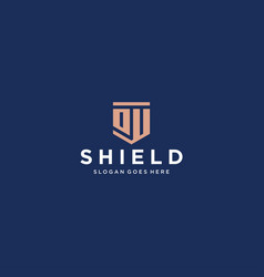 Ou du shield logo vector