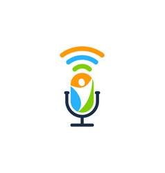 People podcast logo icon design vector