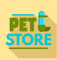 pet store drinker logo flat style vector image