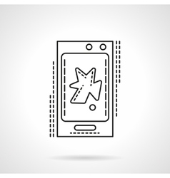 Phone video app flat line icon vector