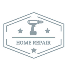 Repair home logo simple gray style vector