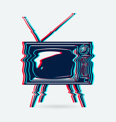 retro tv object vector image