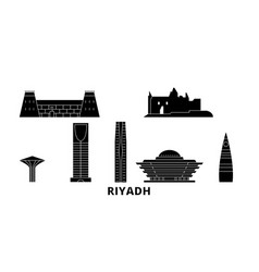saudi arabia riyadh flat travel skyline set vector image