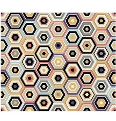 seamless hexagon geometric pattern vector image