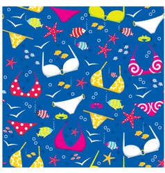 Seamless swimming suits pattern vector