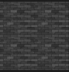 seamless texture vintage black brick wall vector image