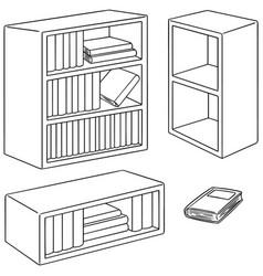 set of bookshelf vector image