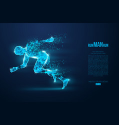 Silhouette a running man athlete runs sprint vector