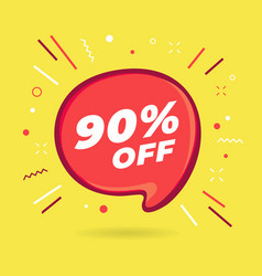 special offer sale red bubble 90 percent discount vector image