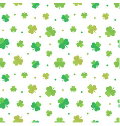 st patricks day seamless pattern background vector image vector image