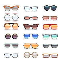 Summer sunglasses fashion eyeglasses flat vector