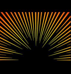 sun rays or explosion boom hyper speed warp vector image