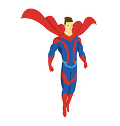 superhero standing with cape waving in the wind vector image