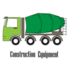 The concrete mixer vector