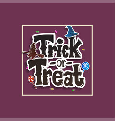 Trick or treat with halloween icon isolated vector