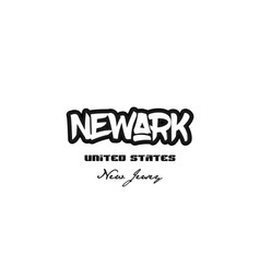 United states newark new jersey city graffitti vector