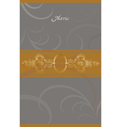 vintage menu cover design vector image