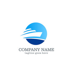 yacht boat logo design vector image