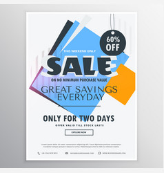 abstract sale and discount coupon voucher for vector image