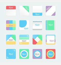 apps icons set soft colour style eps10 vector image vector image