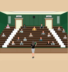 business woman conference or presentation at vector image vector image