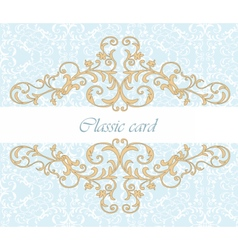 Golden Royal classic ornament invitation vector image