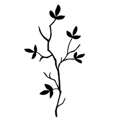high quality original Silhouette of a tree branch vector image