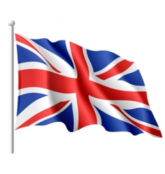 flag of the united kingdom vector image vector image