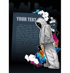 graffiti banner vector image vector image