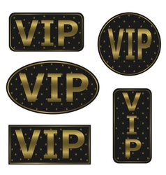 VIP icons vector image