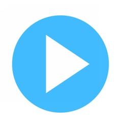 Arrow sign direction icon circle button play vector image