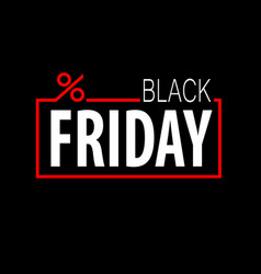 black friday template vector image